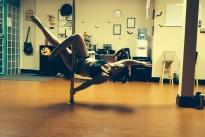 Alison Tedford pole dancing