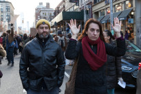 New York, NY USA - December 13, 2014: Protesters march against p