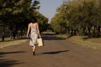 Walking away brunette