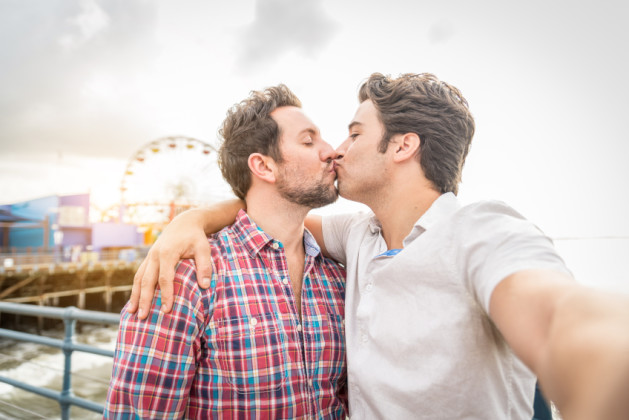 Gay couplekissing