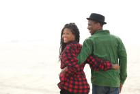 Close up portrait of a happy black couple